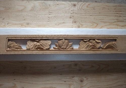 仏壇欄間 彫り物